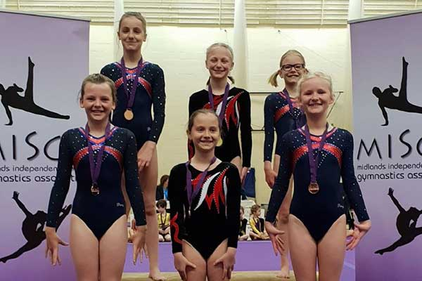 Stamford Endowed Schools' Gymnasts adorned with medals!