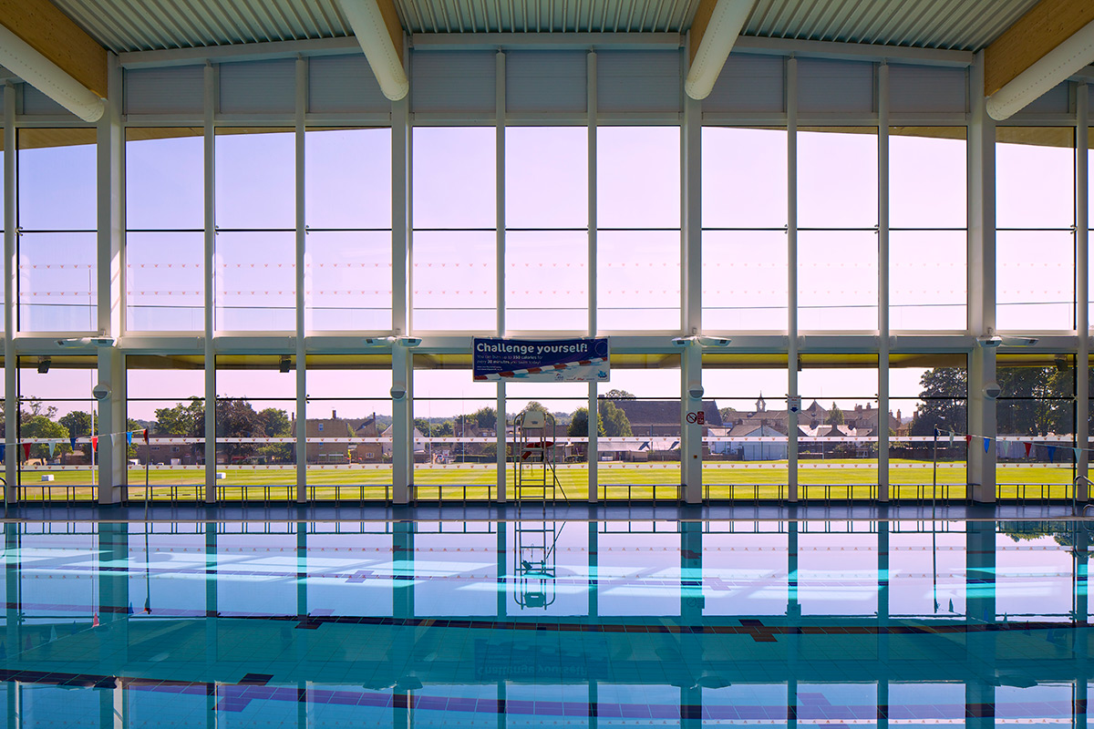 Stamford Sports Centre Pool Sideview