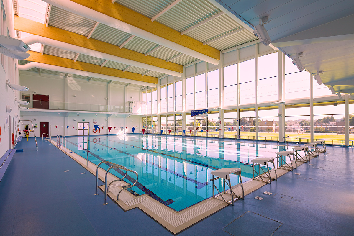 Stamford Sports Centre Pool Side end to end
