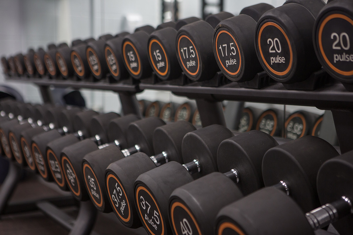 Weights in Stamford Sports Centre Gym
