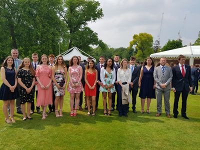 Students from the Stamford Endowed Schools' celebrate Gold Duke of Edinburgh's Awards at St James's Palace