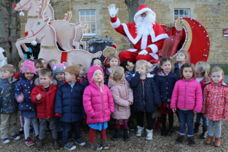 Nursery donate Christmas gifts to local children