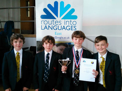 Students Buzzing at the Foreign Language Spelling Bee