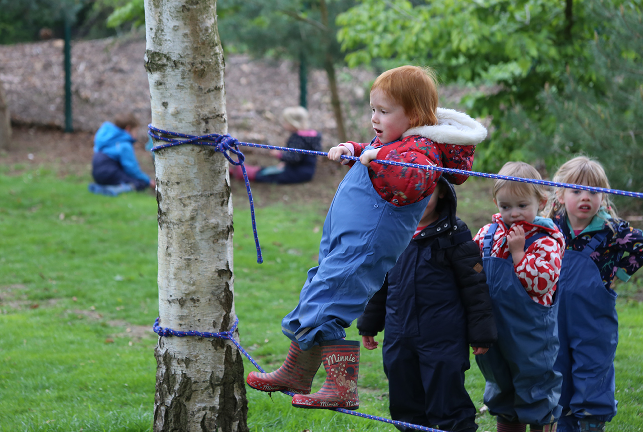 Rope playground games at Stamford Nursery School