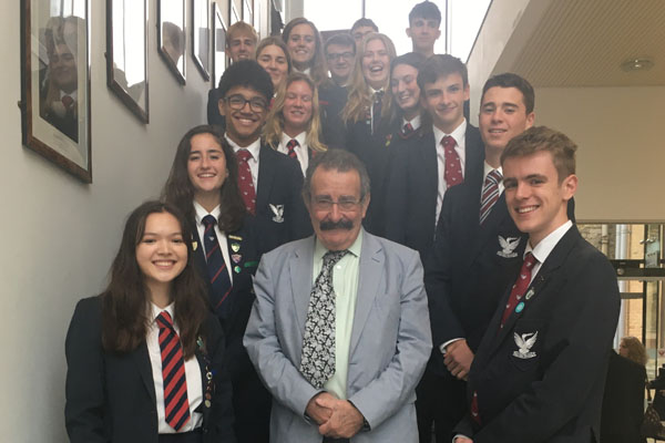 Professor Lord Winston enthrals pupils from the Stamford Endowed Schools'
