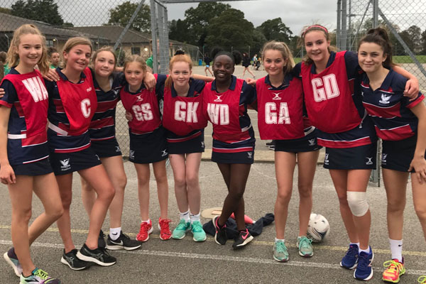Stamford High's U14 Netball team score District Champion title