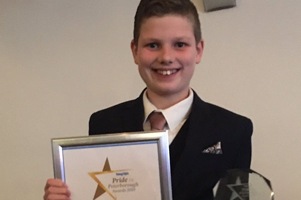 Isaac wins Child of Courage award