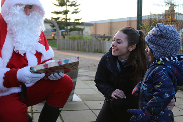 Santa visits the Stamford Nursery School