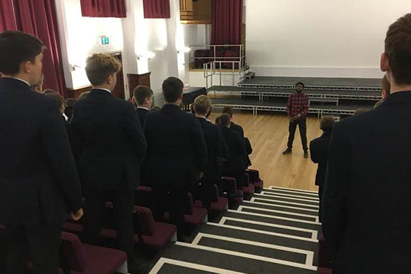 Poet, author and rapper, Karl Nova, visits Stamford School