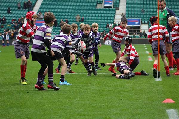 U11A rugby team in play