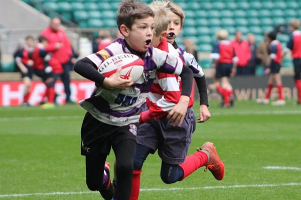 U11A rugby team in play at IAPS tournament