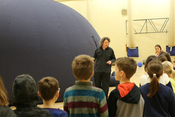 planetarium dome at festival of the moon