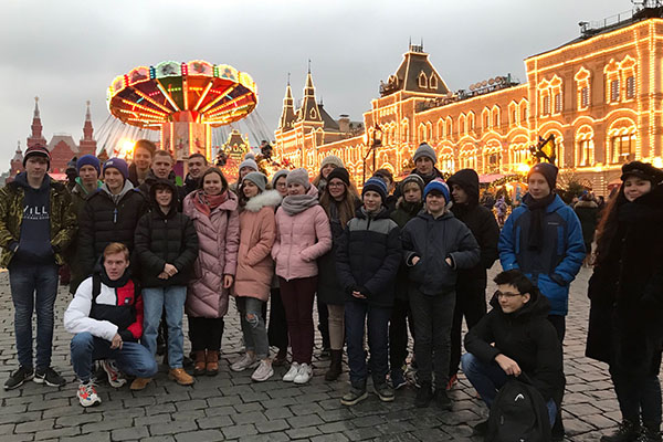 Time with host families in Moscow