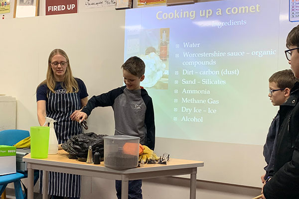 cooking up a comet at the festival of the moon