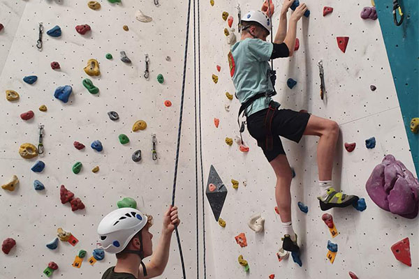 Helping each other at SES Climbing Club