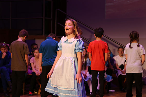 Year 6 Spotlight production of Alice in Wonderland