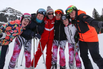 Stamford High School compete at the British School Girls Ski Races
