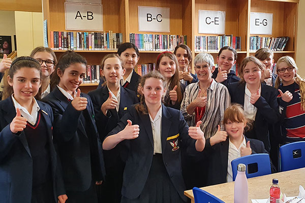 Author, Katherine Hetzel, visits Stamford High School