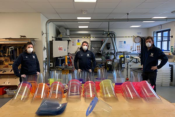 School DT Department manufacturing 200 masks per day for the NHS