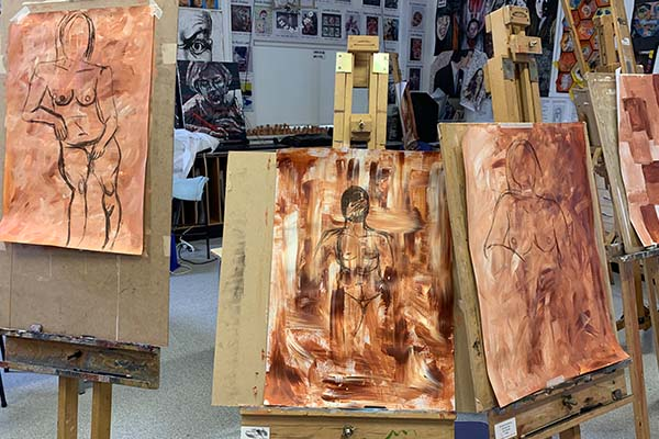 Sixth Form enjoy art workshop from Scott Bridgwood