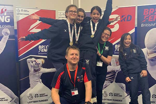 Fencing March 2020 - Team and coaches