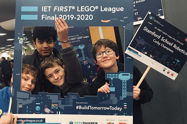 Students compete at Lego League final
