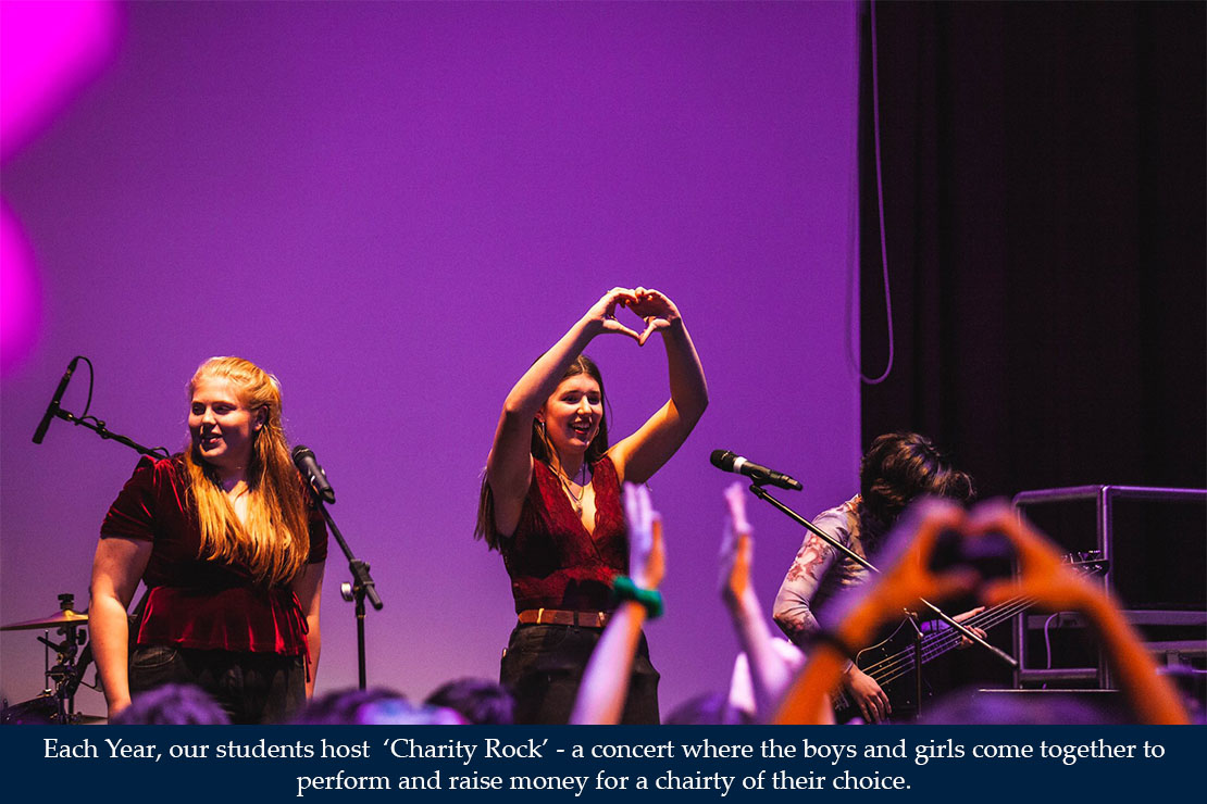 Each Year, our students host 'Charity Rock'