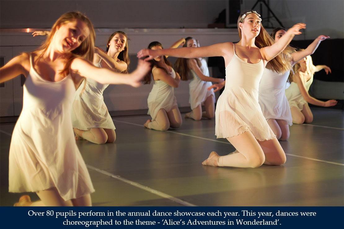 Over 80 pupils perform in the annual dance showcase each year.