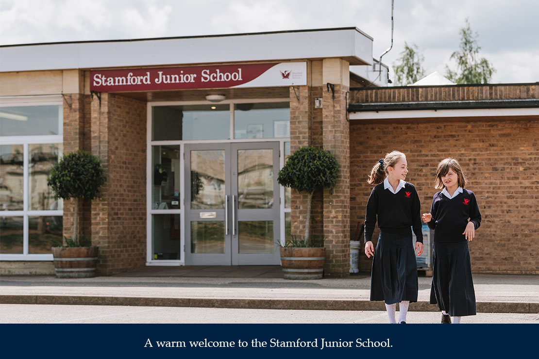 A warm welcome to the Stamford Junior School.