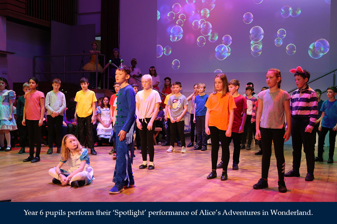 Year 6 pupils perform their 'Spotlight' performance