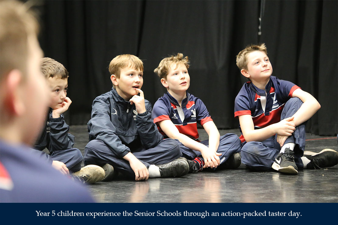 Year 5 children experience the Senior Schools