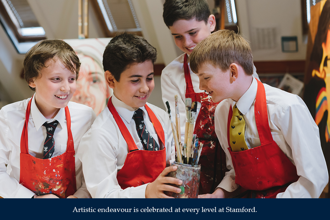 Artistic endeavour is celebrated at every level at Stamford.