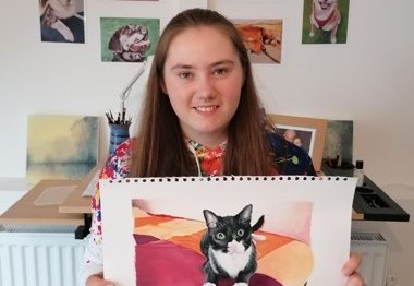 Pet Portrait Sales Fundraise for Food Bank