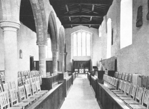 interior of the chapel following consecration day