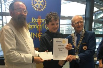 George reflects on Rotary Young Chef District Championship win