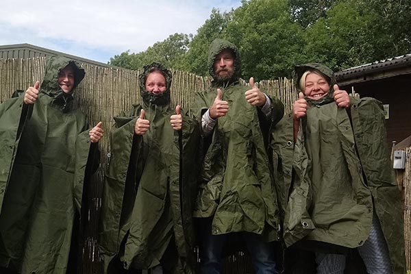 CCF donate ponchos to New Leaf Triangle