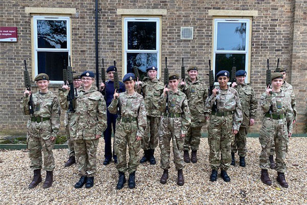 Combined Cadet Force members complete their 'Skill at Arms' Course