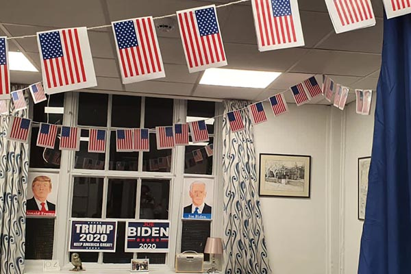Byard House embrace election fever