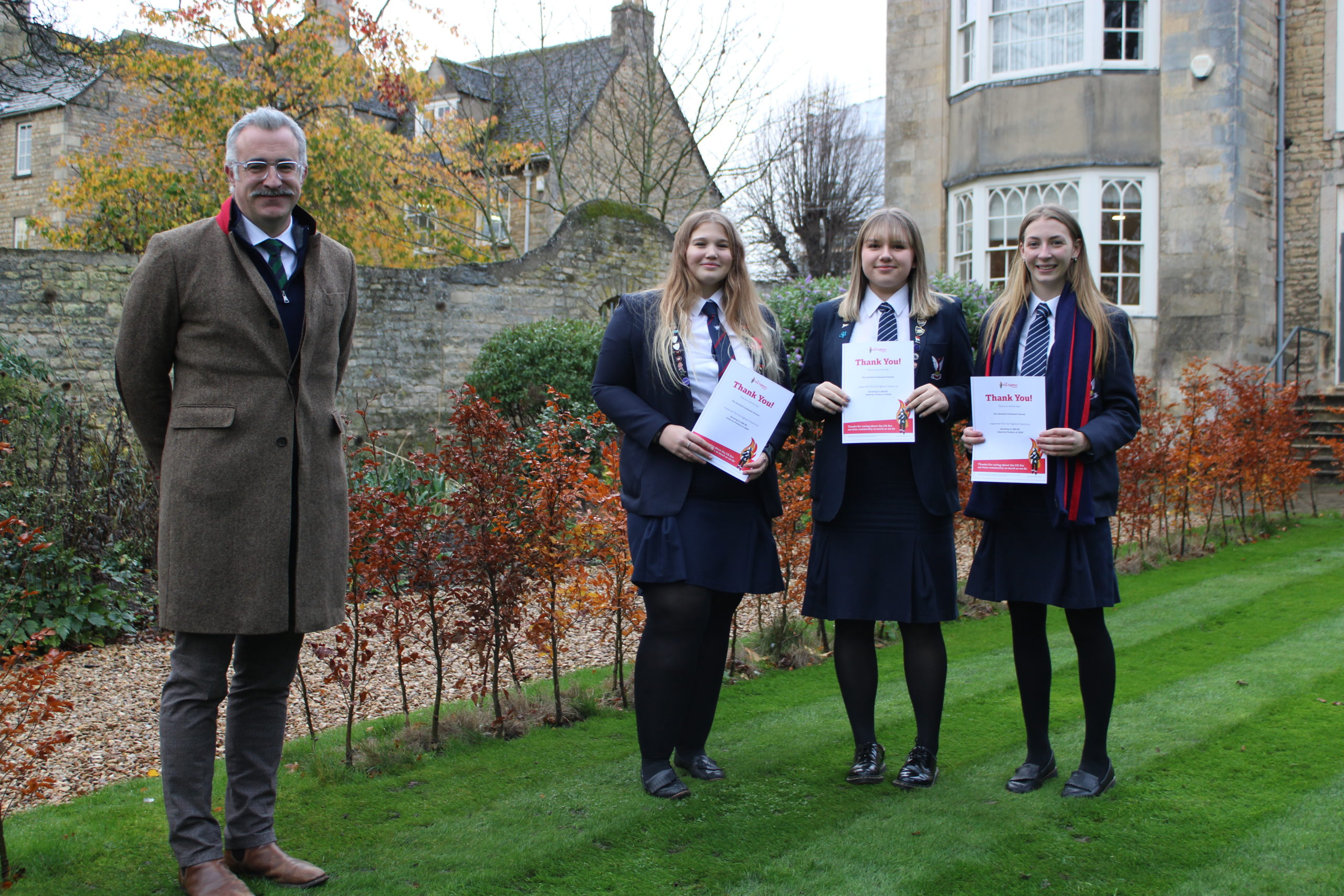Students receive certificates forFundraising
