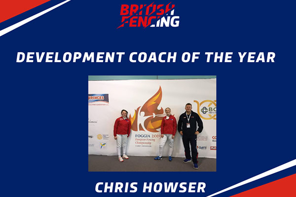 Fencing coaching award presented to Mr Howser