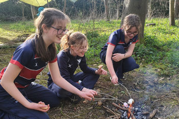 Students enjoy bushcraft sessions