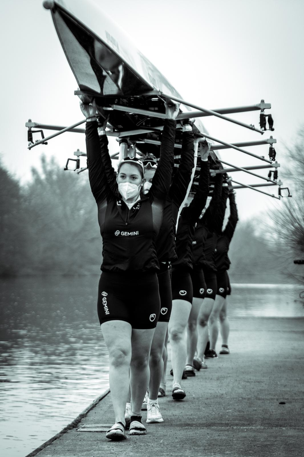Pictured above: Megan Stoker, racing in the Women's Boat Race (Oxford v Cambridge) - photography credits: Benedict Tufnell/Row 360