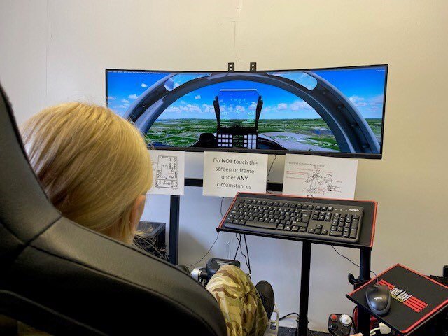 RAF cadets training in the new simulator