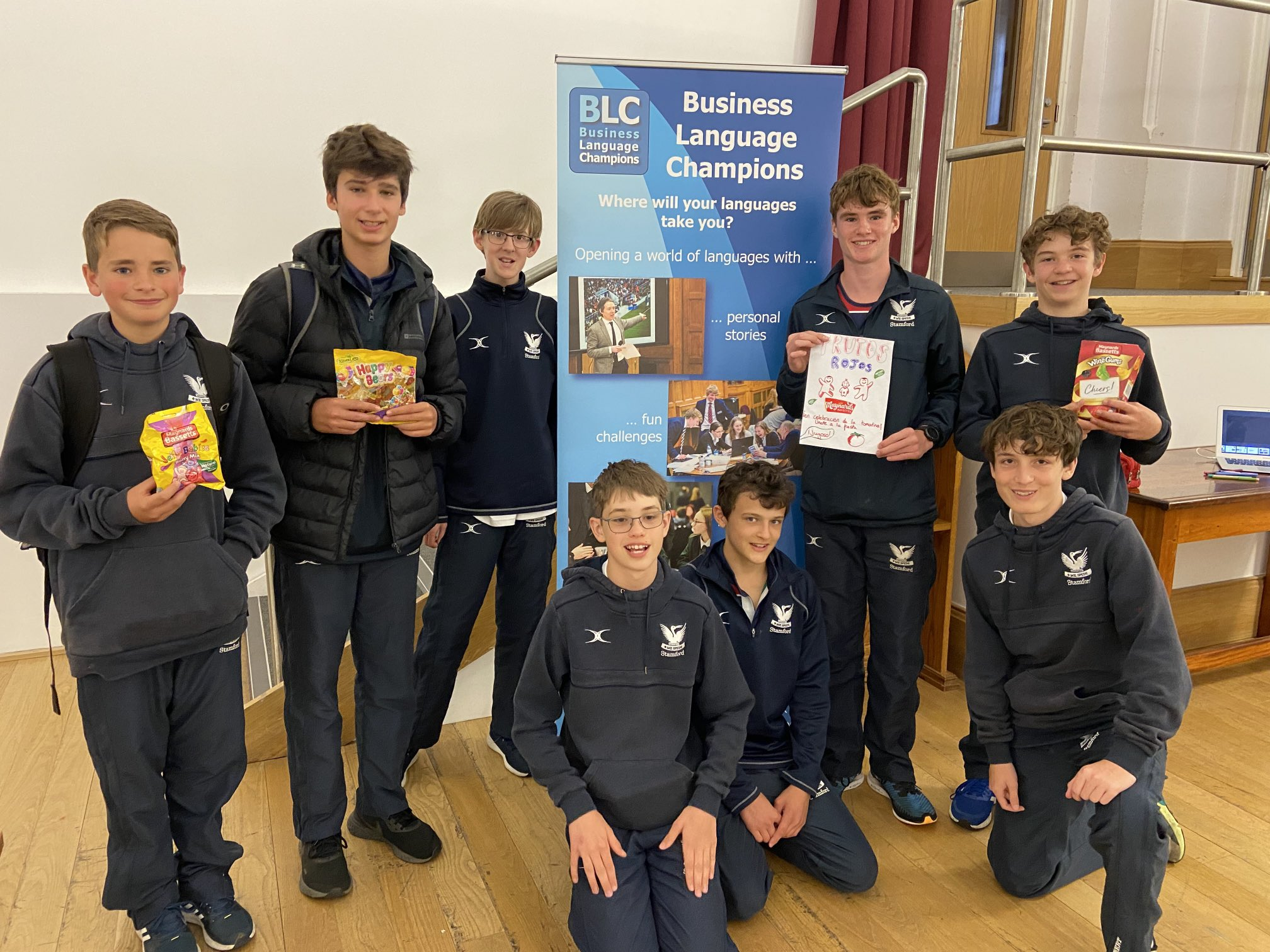 Winners - Y9 marketing challenge team frutos rojos - tomatina themed jelly babies