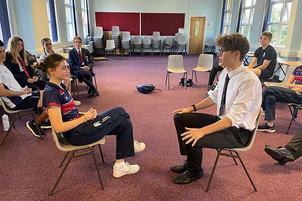 Students try their hand at debating