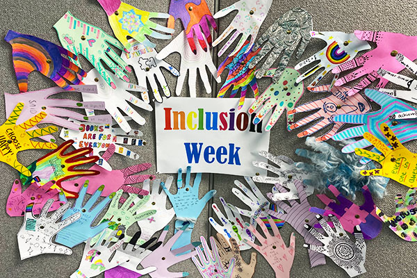 Students 'give a hand' for inclusion week